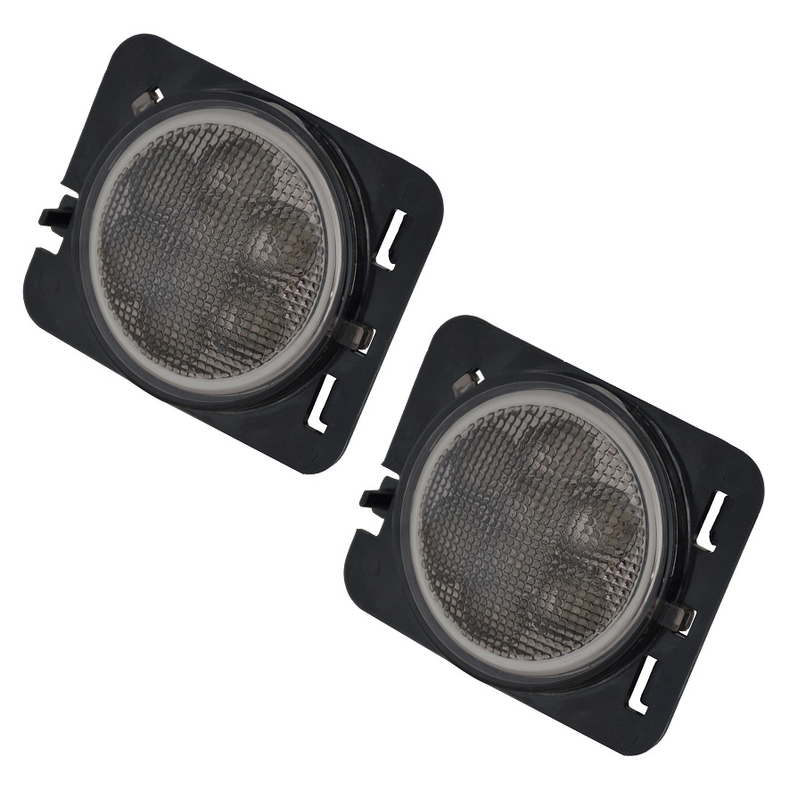 Buy Pair LED Side Fender Lights Black Turn Signal Lamp - Jeep Wrangler  Lights And Mirrors - Jeep Wrangler Offroad Accessories & Parts in Brisbane