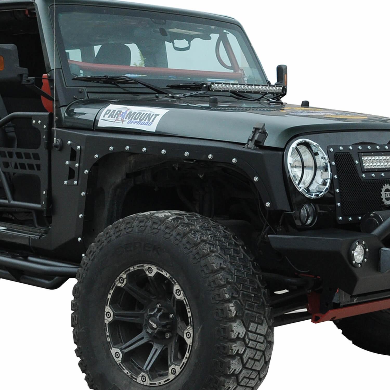 Jeep Wrangler Fenders >> Buy Evolution Style Steel Front Fender Flares Guard Jeep Wrangler