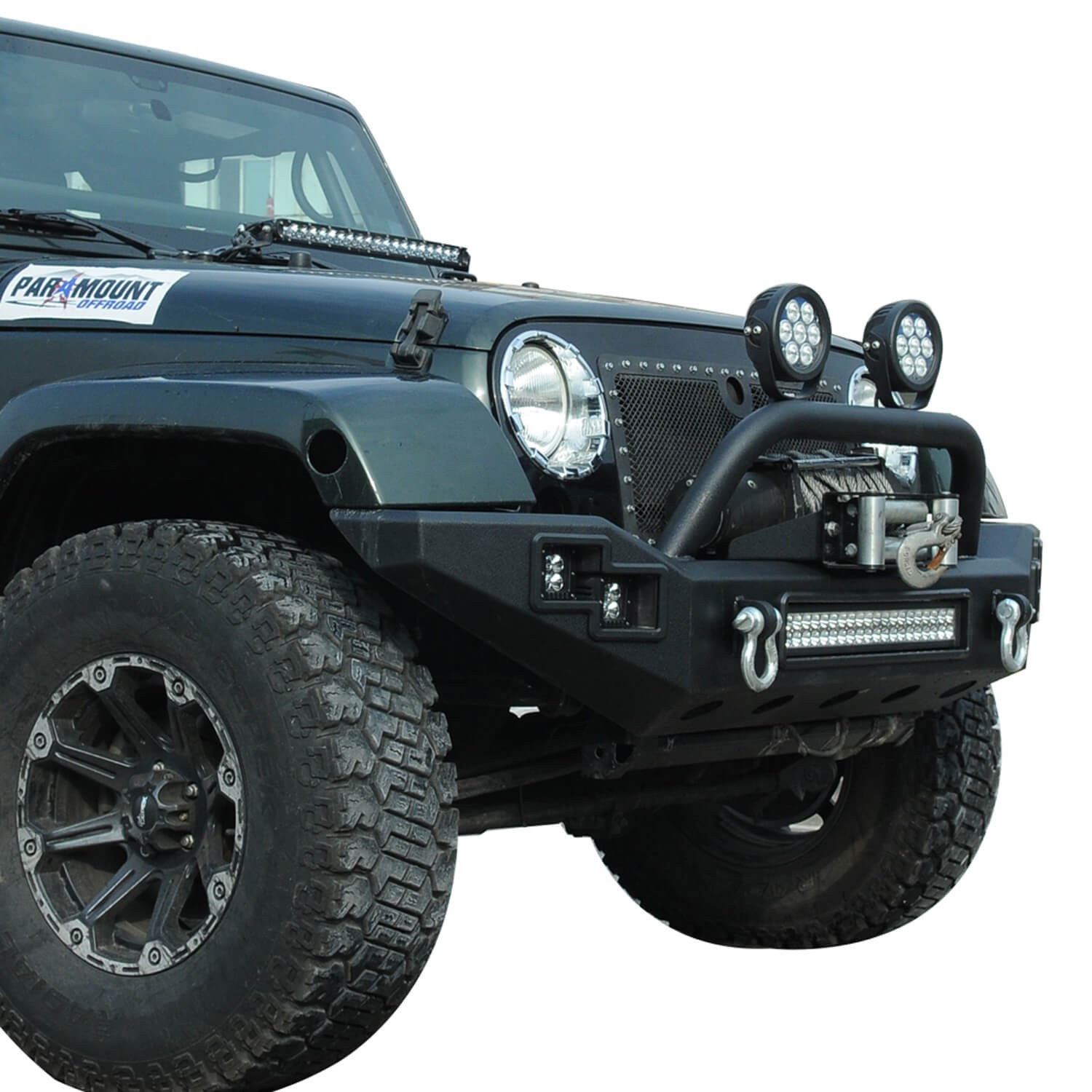 Buy Jw0303 Steel Front Bumper With Winch Cradle Led Light Bar Rear Jeep Wrangler 2008 Picture Of A Fog