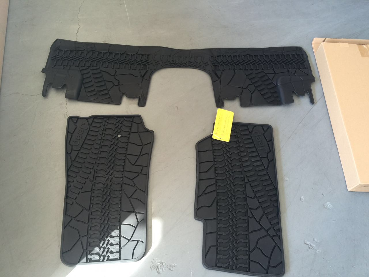 Buy 4 Door Jeep Style Black Rubber Floor Mat Front And Rear Parts Picture Of A