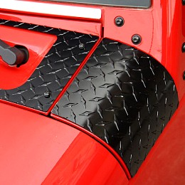 Image of a Jeep Wrangler Premium Side Cowl Cover (Aluminium, Gloss Black)
