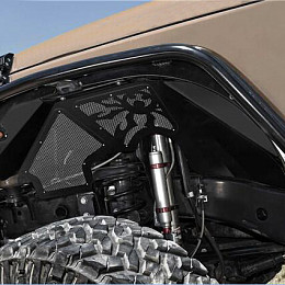 Image of a Jeep Wrangler Poison Spyder Style Vented Front Inner  Front  Fender Flares