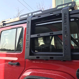Image of a Jeep Wrangler JL 4 Door Stealth Rack - Heavy Duty Low Profile Roof Rack (4-Door)