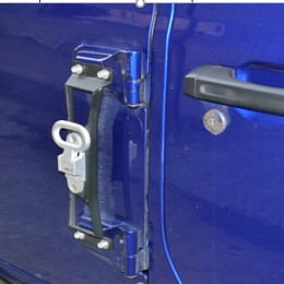 Image of a Jeep Wrangler Jeep Wrangler 2019~ JL Heavy Duty Door Hinge Side Foot Step Steel (Matte Black) Price for EACH