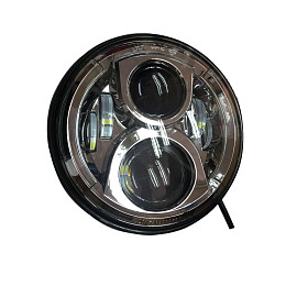 Image of a Jeep Wrangler Jeep  Wrangler  Chrome LED head lamp without LED ring (Pair)