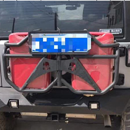 Image of a Jeep Wrangler Jeep Wrangler JK Jerry Can holder with 2 Jerry Cans