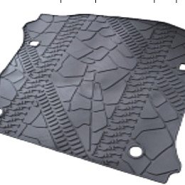 Image of a Jeep Wrangler Jeep Wrangler JK 4Door rear truck mat without hole