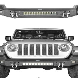 Image of a Jeep Wrangler Jeep Wrangler JL front bumper with led light bar