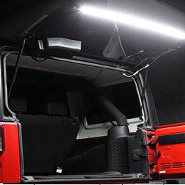 Image of a Jeep Wrangler Jeep Wrangler  JK tailgate led light with remote control