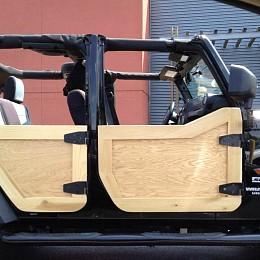 Image of a Jeep Wrangler Organic Timber Half Doors (4-Door)