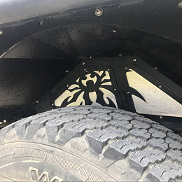 Image of a Jeep Wrangler Poison Spyder Style Vented Front Inner  Rear Fender Flares