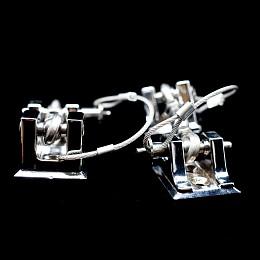 Image of a Jeep Wrangler Retro Style Bonnet lock Catch Kit (Chrome)