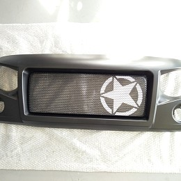 Image of a Jeep Wrangler Spartan Star Style Angry Grille Matte black