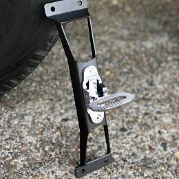 Image of a Jeep Wrangler Door Step Black/Chrome