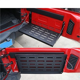Image of a Jeep Wrangler  Jeep Wrangler Tail gate storage plate