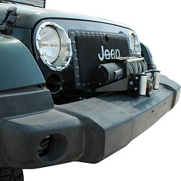 Image of a Jeep Wrangler Raised Winch Mounting Steel Plate for Factory Bumper