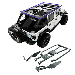 Image of a Jeep Wrangler Rockhard 4x4 Bolt-In Ultimate Sport Cage
