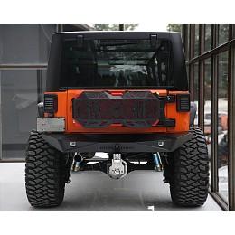 Image of a Jeep Wrangler Aggressive Rear Bumper Material: Aluminium J254