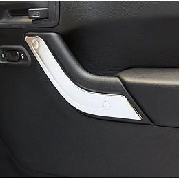 Image of a Jeep Wrangler  Accessories 2 Door Silver Inner Door Handle Trim Cover Interior