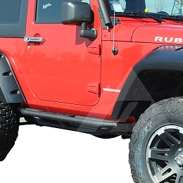 Image of a Jeep Wrangler Rock Sliders 2 Door Raptor rock sliders Running Board Side Steps