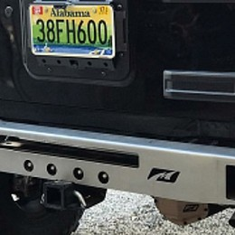 Image of a Jeep Wrangler  stubby Rear Bumper With Towing Hook