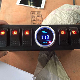 Image of a Jeep Wrangler  YBOS Six-in-one Switch Control Panel with LED display