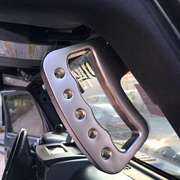 Image of a Jeep Wrangler  Pair Aluminum Front Grab Handle A-alloy Black Color