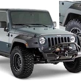 Image of a Jeep Wrangler Bushwacker Pocket Style Front & Rear Fender Flares Guard