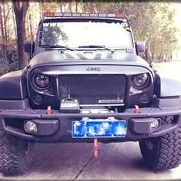 Image of a Jeep Wrangler Spartan Style Angry Grille Matte black