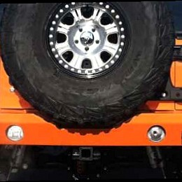 Image of a Jeep Wrangler Rear Bumpers And Tyre Carriers JW0339 Teraflex Style Rear Bull Bar