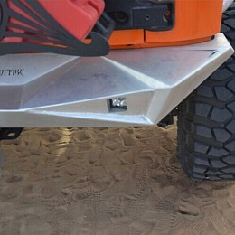 Image of a Jeep Wrangler Aggressive Rear Bumper Material: Steel
