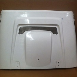 Image of a Jeep Wrangler AEV Style FRP Bonnet Front Hood Body Kit