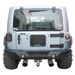 Image of a Jeep Wrangler  SF Style Rear License Plate Holder Frame