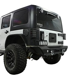 Image of a Jeep Wrangler Avenger Style Rear Bumper
