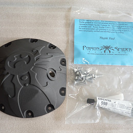 Image of a Jeep Wrangler  Poison Spyder Style Dana 44 Differential Cove Diff Cover