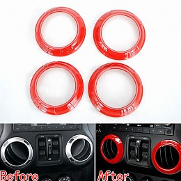 Image of a Jeep Wrangler  A.C outlet Decoration Circle red