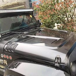 Image of a Jeep Wrangler Rugged Ridge Style Performance Vented Hood (steel)