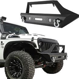 Image of a Jeep Wrangler Avenger Style Front Bull Bar