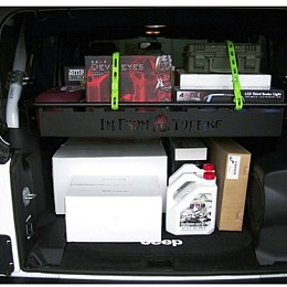 Image of a Jeep Wrangler 4 Door TF Style Rear cargo boot storage basket