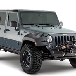Image of a Jeep Wrangler BW Pocket Style Front & Rear Fender Flares Guard
