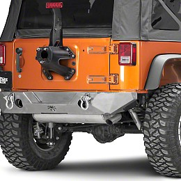 Image of a Jeep Wrangler JW0330 PS Style Steel Rear Bull Bar