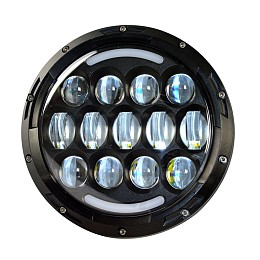 Image of a Jeep Wrangler 0507 style 7 inch LED Headlights