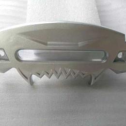 Image of a Jeep Wrangler  Accessories Silver Aluminum Hawse Winch Fairlead Cover 0192