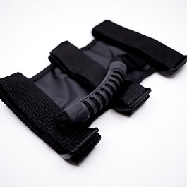 Image of a Jeep Wrangler 2x roll bar post soft Grab Handle grip Accessory