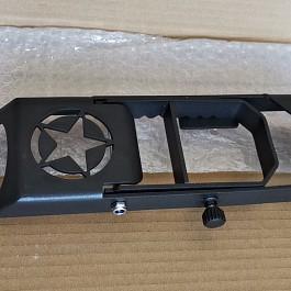 Image of a Jeep Wrangler Heavy Duty Door Hinge Side Foot Step Steel (Star logo Matte Black) Price for EACH
