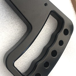 Image of a Jeep Wrangler Jeep JK Wrangler 07~17 Pair Black aluminum Front Grab Handle Grip Accessory