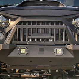 Image of a Jeep Wrangler Jeep JK Wrangler 07~17 TF0716 Style Black Steel Front Bar