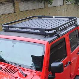 Image of a Jeep Wrangler Light-weight Aluminium Roof Rack Gutter-mounted for Jeep Wrangler JK (4 Door)