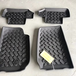 Image of a Jeep Wrangler Jeep Wrangler JK Floor Mats (Deep Dish Design) for 2-Door Wrangler