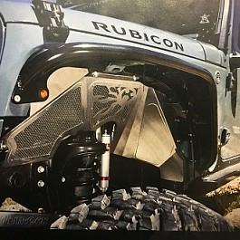 Image of a Jeep Wrangler Poison Spyder Style Inner Fender Kit (Black, Aluminium)